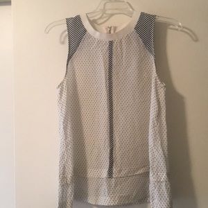 Madewell silk tank with tier detail